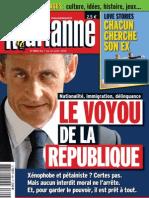 Marianne N°694 du 07 au 13 aout 2010 Le voyou de la republique