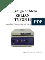 Centrífuga ZELIAN TYFON II Manual Del Usuario y Servicio Tecnico