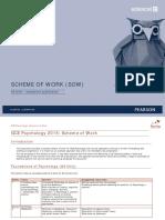 As Psychology (Standalone) Scheme of Work