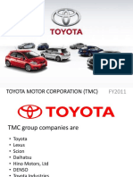 Toyota Motor Corporation Tmc 1
