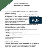 DÍA DE LA AFIRMACIÓN DE LOS DERECHOS SOBRE LAS ISLAS MALVINAS