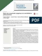 Efecto de La Transfusion Sanguinea en La Mortalidad en El Politraumatismo