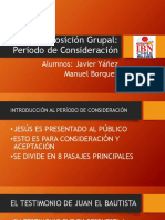 Exposición Grupal Tiempo de aceptación de Cristo, libro de Juan .pptx