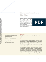 Tubulence Transition in Pipes