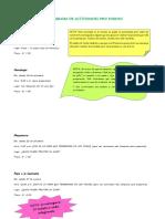 Cronograma de Actividades Pro Fondos