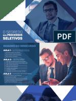 Resumo Minicurso EstagiÁrea + Informações Treinamento Completo