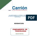 FARMACIA- 1° CICLO - FUNDAMENTOS DE TOXICOLOGÍA (1)
