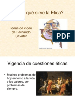 ÉTICA PROFESIONAL  - Savater.para q sirve la etica