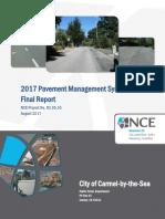 2017 Pavement Management System Update Final Report