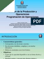 Programación de operaciones