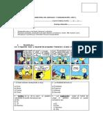 Prueba Semestral Del Lenguaje y Comunicación Coef 5