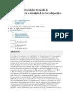 El Calcio Extracelular Modula La Diferenciación e Identidad de Los Adipocitos Marrones