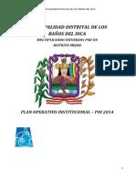 Plan Opetativo Institucional 2014.