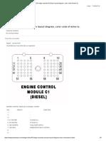 DODGE RAM Cummins ECM Pin Layout Diagram