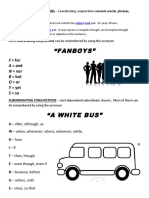 A White Bus Words Subinating Conjunction