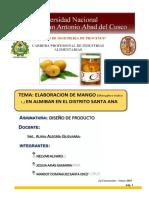 Elaboracion de Mango en Almibar