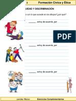 3er Grado - Formación C y E - Equidad y Discriminación