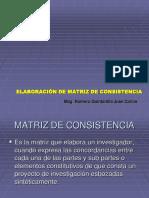 Presentacion Matriz Consist.