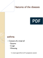 Clinical Features of the Diseases