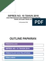 (Sosialisasi Dan Penajaman Inpres 10 Tahun 2016) Inpres 10 2016_Sosialisasi Dan Penajaman