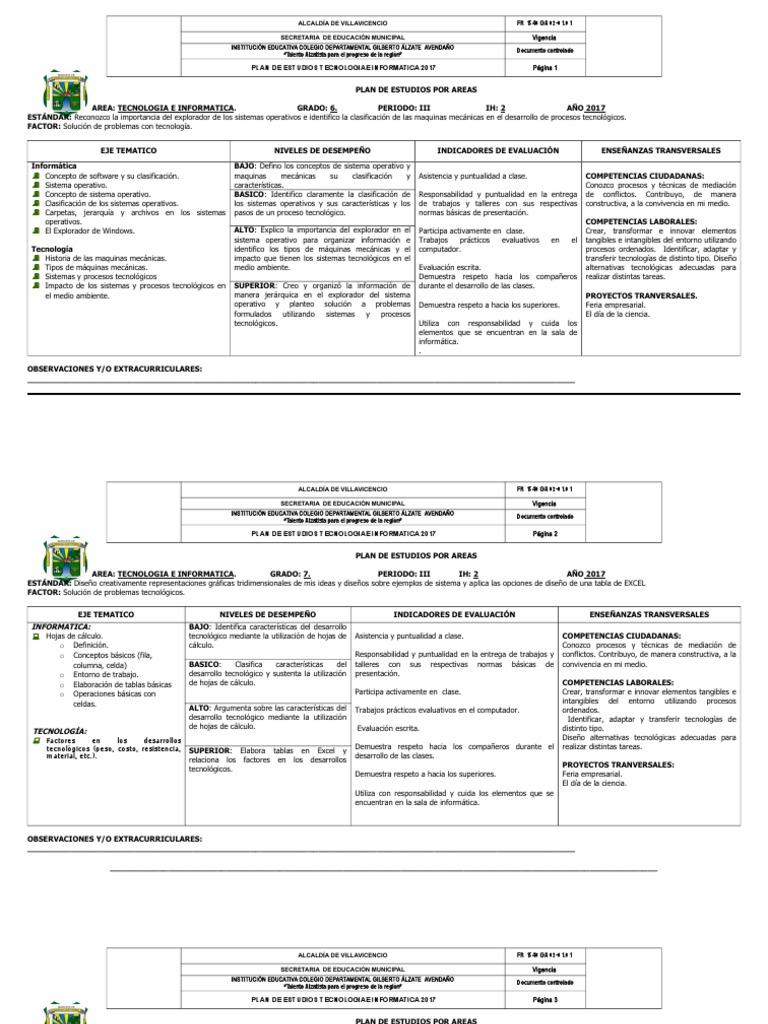 ab2b27d2ca7 Plan de Estudios Info. Tercer Periodo