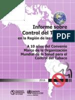 Informe PAHO tabaco en las Américas