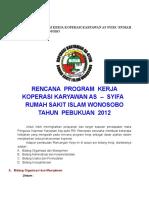 Rencana Program Kerja Koperasi Karyawan as Syifa
