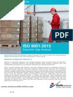3) Dokumen Gap Analysis Iso 9001-2015