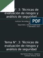 Tema N°. 3- Técnicas de evaluación de riesgos y análisis de seguridad