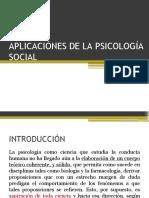 Aplicaciónes de La Psicología Social