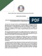 Comunicado Público Sobre El Cumplimiento de La Ley 47 Con El Plan Fiscal (1)