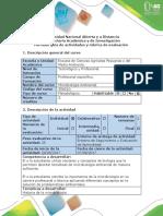 Guía de Actividades y Rúbrica de Evaluación - Tarea 1 - Elaborar El Diagrama de Flujo Introducción a La Microbiología Ambiental