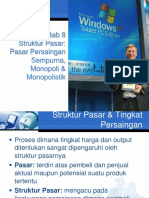 BAB 8 Struktur Pasar Persaingan Sempurna, Monopoli & Monopolistik.pptx