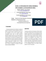 Evaluación de La Capacidad de Carga Dinámica