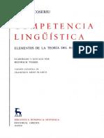 Eugenio Coseriu, Heinrich Weber (Editor)-Competencia lingüística_ elementos de la teoría del hablar  -Gredos (1992).pdf