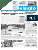 Edicion Impresa El Siglo 31-08-2017