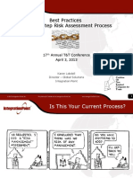 K Lobde Final CONECT 2013 5-Step Risk Assessment Process