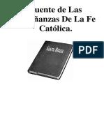Justificación o Fuentes Sobre Las Enseñanzas de La Fe Católica