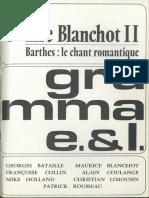 Barthes 1976 Le Chant Romantique (5 Gramma 164)