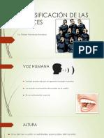 Clasificación de Las Voces
