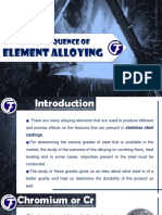 The Consequence of Element Alloying