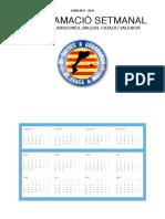 Agenda per al curs 2017-2018