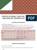 Porphyry-epithermal Transition Maricunga Belt (2001)