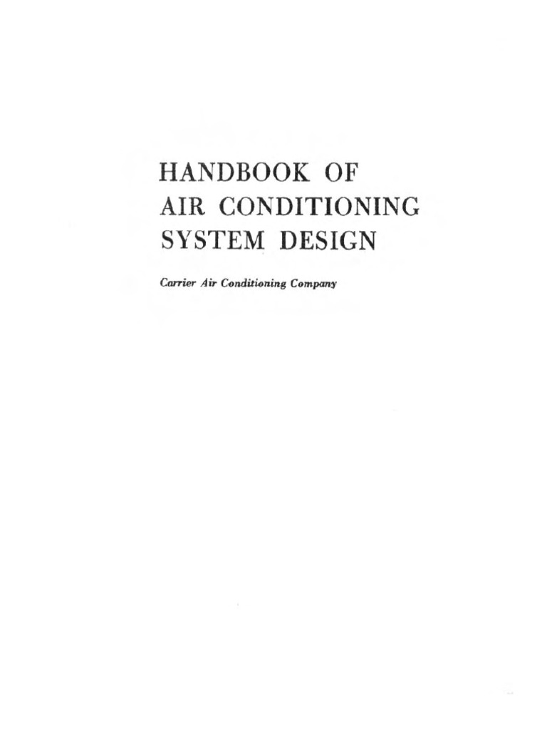 Carrier Handbook Of Air Conditioning System Design Electric Power Nature