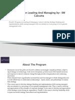 Program in Leading & Management