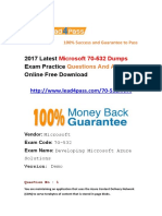 2017 Latest Microsoft 70-532 Dumps PDF Practice Files
