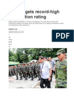 Duterte Gets Record