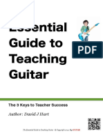 Essential Guide to Teaching Guitar