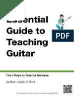 Essential Guide to Teaching Guitar