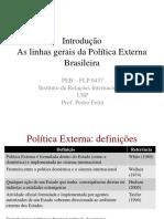 Introdução_PEB - Introdução as Linhas Gerais Da Política Externa Brasileira